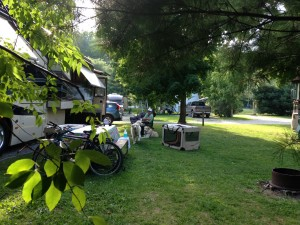 Here is a view from the back of our spot. The sites were fairly large and spacious at this KOA. They had a nice pool and a general store that sold ice cream! I think it was certainly one of the cleanest and well maintained KOA's that we have stayed in thus far.