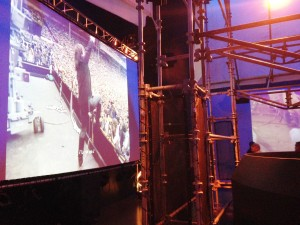 The current rotating exhibit at the Rock & Roll Hall of Fame was about the outdoor music festival. They played a continuous -feed, 18-minute video with various performances of about 25 singers and bands from festivals all over the country.