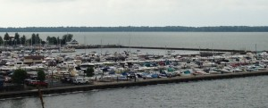 The marina in Erie - just off of downtown.