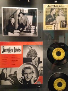 It was fun to see an exhibit of Jerry Lee Lewis and remember how lucky we are that we recently got to see him perform live at the Memphis Blues Festival.