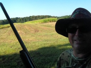 Mike got to go dove hunting when we were in Ohio. He got a three-day license and hunted on public fields that were located about 45 minutes from our camp. He had sold all of his camo gear in our estate sale, so we had to go to Walmart and get some new duds.