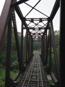 An old bridge we crossed above Oil Creek.