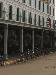 No cars on Mackinac Island. Only horses and bikes. So charming.