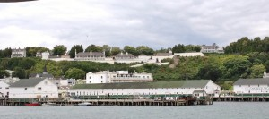 The view of Mackinac Island as we approached from the ferry.