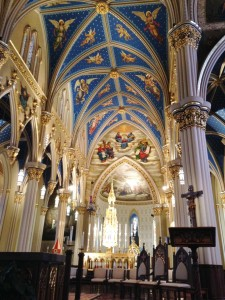 Inside the Basilica at Notre Dame. One of the most beautiful churches I have been in... anywhere, ever.