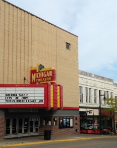 The Michigan Theater is a working theater in downtown South Haven. I went to see a movie there one Saturday while Mike was on a college football overload. Can you believe I only paid $7 for popcorn, a coke, AND a ticket to a first-run movie!