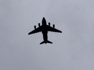 This carrier took off over us as we were leaving Wright-Patterson Air Force Base after visiting the museum there.