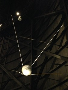 Sputnik, the first satellite.