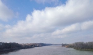 The Missouri River.