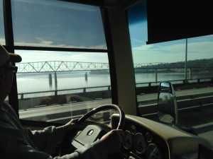 Crossing the Mississippi River, again.
