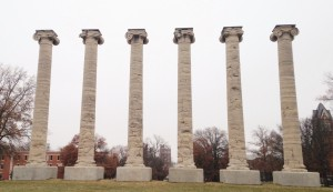The Columns at the University of Missouri - a symbol of the Tiger spirit of resiliency.