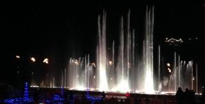 Branson Landing is located between the river and historic downtown Branson. They have a water fountain that 'dances' to music. Each hour on the hour they feature a song that includes fire too!