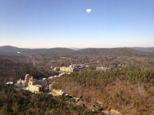 A view of downtown Hot Springs from the top of the tower.