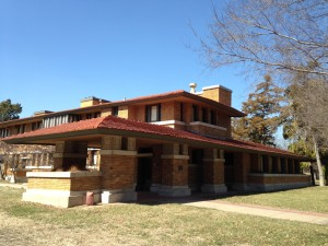 When we arrived in Wichita, I was not aware I would have the pleasure of touring one of Frank Lloyd Wright's last Prairie House Designs.