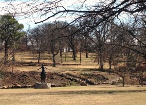 Woodward Park was a beautiful green space in Tulsa.