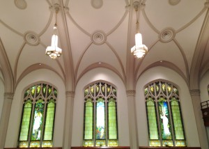 We attended Palm Sunday and Easter Services at a beautiful historic Methodist Church in downtown Topeka.