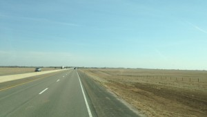 Not much to look at while driving down the highway in Kansas.