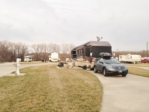 Our spot at the campground in Topeka.