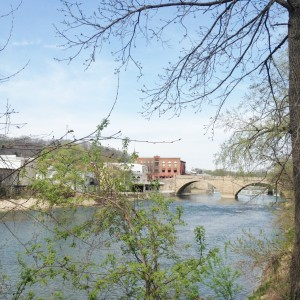 There was one bridge in Elkader that connected both sides of town separated by the Turkey River.