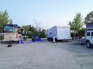 Here is a view of our community camping space while the carnies were in town.