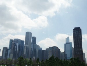 Downtown Chicago from Navy Pier.