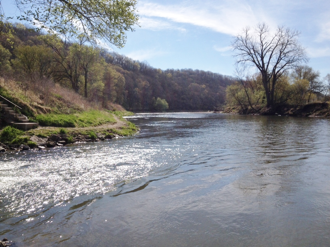 Iowa part ii elkader the martin 39 s american adventure for Nearest fishing spot