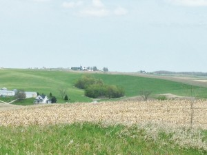 Here is an example of the rolling landscape in Northeast Iowa.
