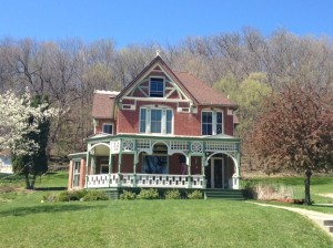 The Stemmer House is one of the many beautiful historic homes in Elkader. The original owner of this house was the local lumberman, which explains the elaborate woodwork on the front porch.