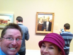 After our American Gothic photo from Eldon, Iowa, it only seemed appropriate that we should seek out the real deal while visiting  the Art Institute of Chicago.