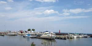 The marina in Algoma.