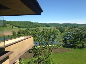 The bird walk at Taliesin (and another view of the beautiful landscape on all sides of the house).