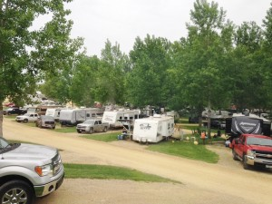 A super full campground over Memorial Day weekend.