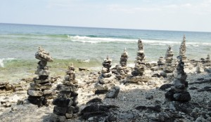 We stumbled upon these rock stacks while exploring Cave Point County Park.  Apparently the act of building Carins is a big deal there. We didn't know, but it didn't really matter, either. They were such a whimsical and unexpected surprise to stumble upon. It made the day and the stop at this special county park extra memorable.