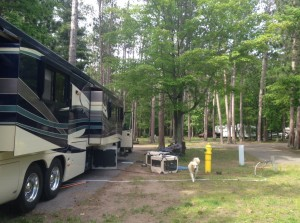A view of our site at the Marquette Tourist Park.