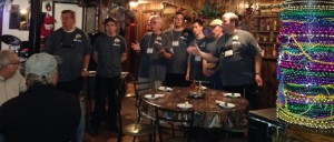 "We were in Marquette during ""Art Week"". A surprise visit from the local barbershop quartet made our dinner at Lagniappe that much more fun!"
