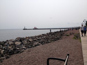 Part of Duluth's Lake Walk.