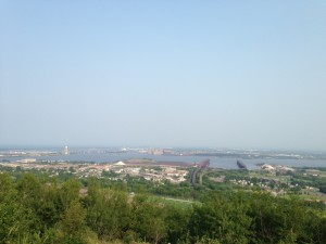 We enjoyed a view of Duluth's harbor while we waited for the fireworks.