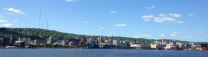 The Duluth skyline from our afternoon cruise aboard the Vista Fleet. (It was more fun than the train ride).