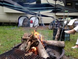 Our last campfire in Michigan.