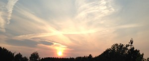 First Minnesota sunset, outside of Duluth.