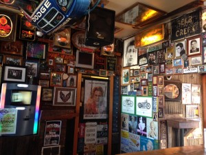 The Wooden Nickel is a fun dive bar near the University. We stopped in for happy hour one evening and had fun absorbing all the signs and pictures that adorned every inch of the walls and ceiling.