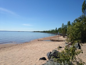 Some sandy beach in Marquette.