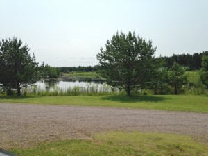 The view from our front window at Ogston's RV Park.