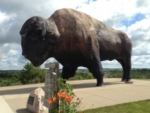 Jamestown boasts the largest buffalo structure in all of the United States.