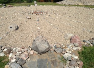 There was a medicine wheel at a civic park in Valley City.