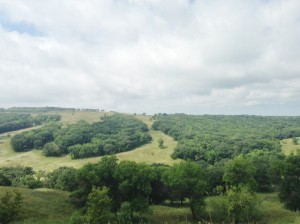 A view of the Sheyenne River Valley from the scenic overlook at Fort Ransom State Park.