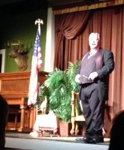 One of Medora's most famous historic citizens was the man who invented Mr. Bubbles bubble bath. Another was Theodore Roosevelt. There is a performance in the town theater every day at 3:30 when the former president talks to the audience about his life, his philosophies, and his aspirations. It was very interesting and educational.