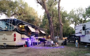 The back of our spot at the Miles City KOA.
