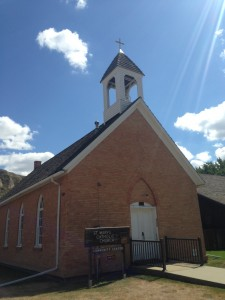 St. Mary's Catholic Church was built in 1884 and financed by the town's namesake Medora de Vallombrosa. Back at that time, she received an annual income of $90,000 from a stock portfolio she received from her father before her marriage. Can you imagine earning an income of $90k over 131 years ago? She was loaded!