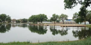 The municipal swimming pool is a natural lake two blocks from downtown!